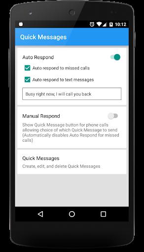 Quick Messages - Auto Respond