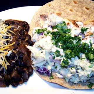 Chipotle Slaw Fish Tacos.