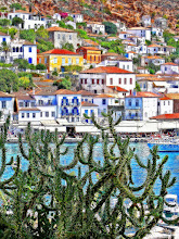 Photo: View of Hydra, Greece. It is a phtoo, the painterly look is a result of applying the orton effect.