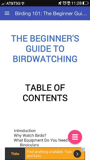 Birding 101: Birdwatching Book