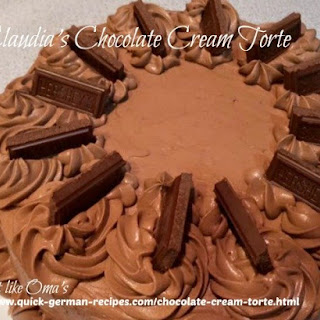Claudia's Chocolate Cream Torte