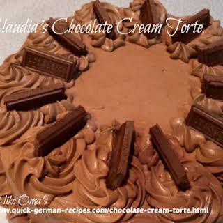 Claudia's Chocolate Cream Torte.