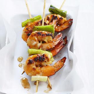 Honey Garlic Shrimp Skewers.