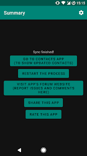 Contacts Sync (requires ROOT) Screenshot