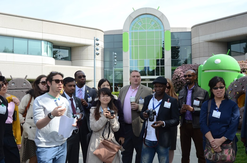 IVLP new media fellows at Googleplex