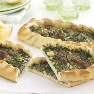 Spicy Lamb and Spinach Pide Bread.
