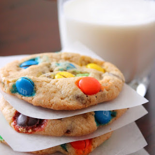 M&M Chocolate Chip Cookies.