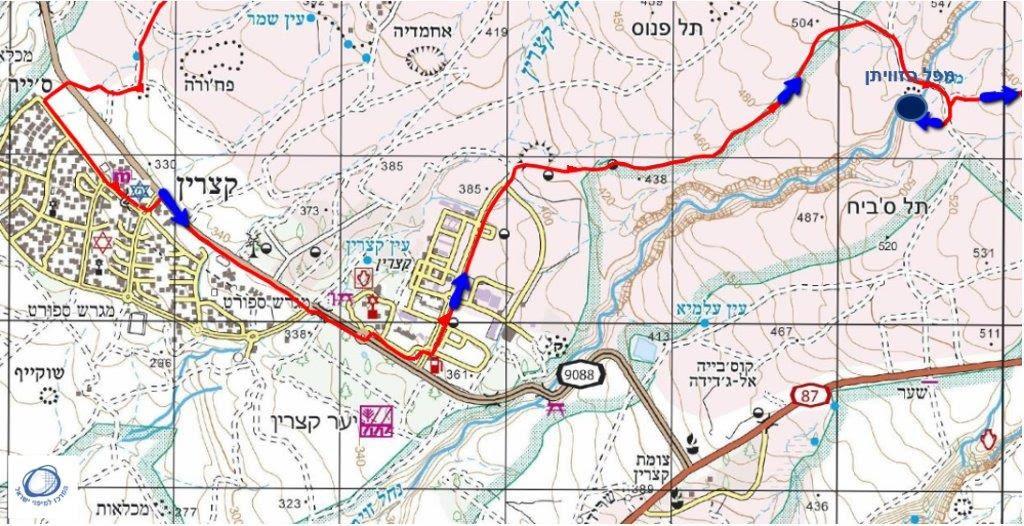הוראות חדשות מדרונות מרכז הגולן, בין קצרין במערב ובין חושניה והר יוסיפון במזרח LC-33