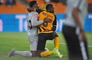 Kaizer Chiefs goalkeeper Daniel Akpeyi and defender Mulomowandau Mathoho after the match.