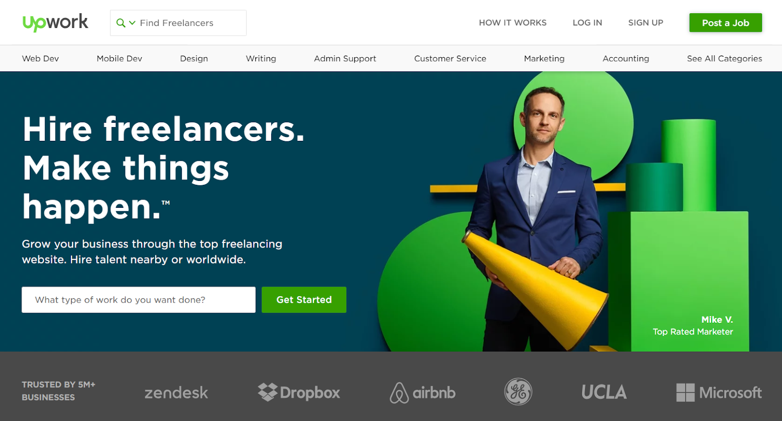 Upwork - Freelancing marketplace for beginners