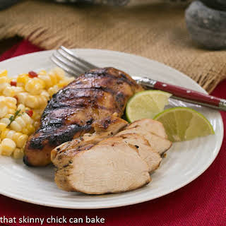 Mustard, Garlic, Lime Marinated Chicken Breasts.