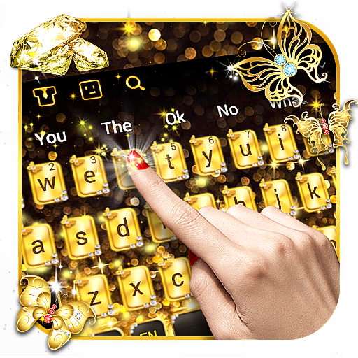 Gold Diamond Keyboard
