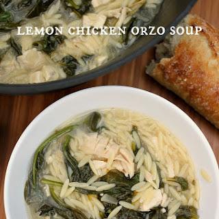 Lemon Chicken Orzo Soup.