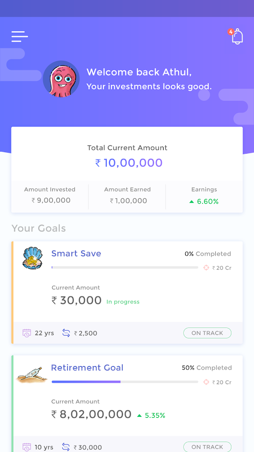 Goalwise Mutual Fund Investment App