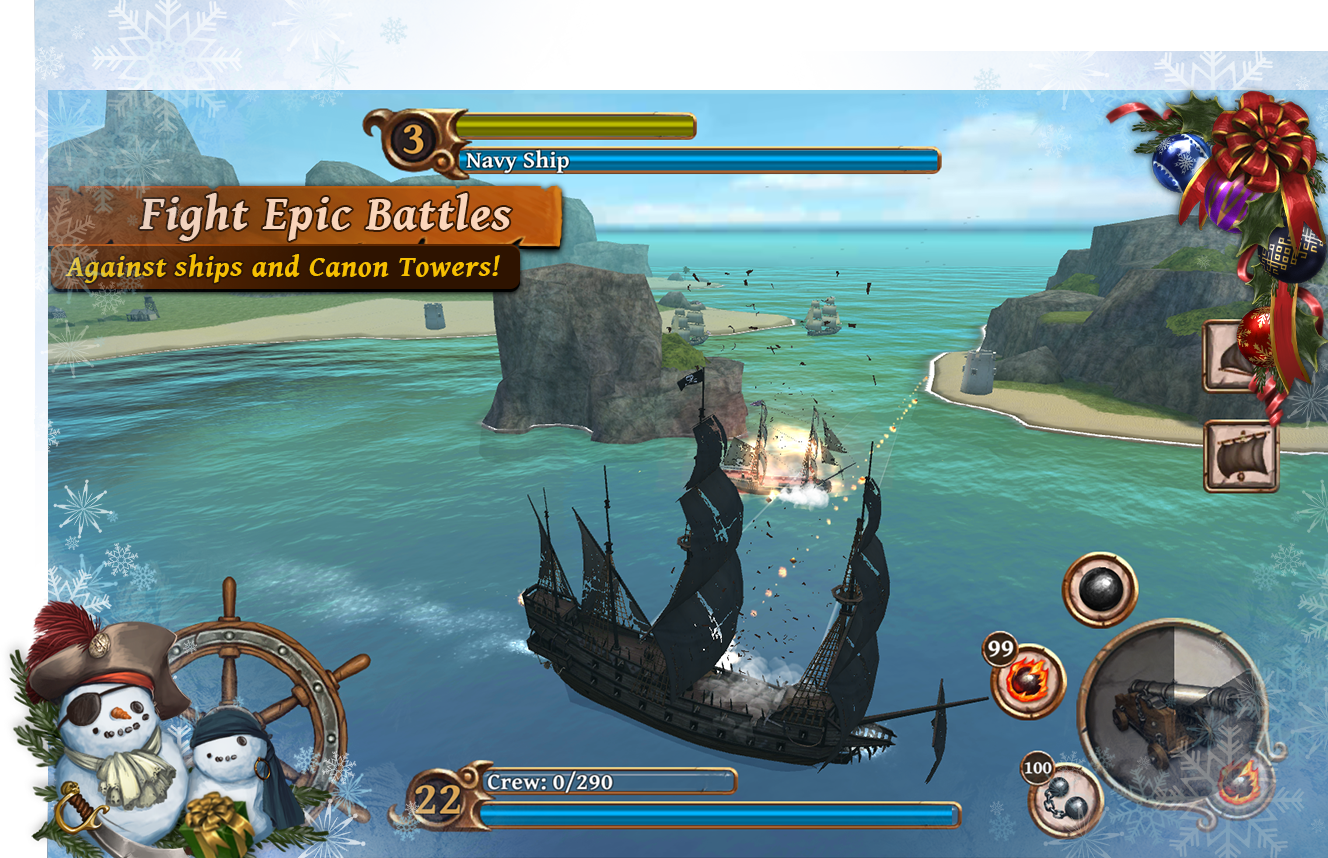 Ships of Battle Age of Pirates- screenshot