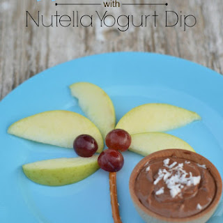 Nutella Yogurt Fruit Dip & Apple Palm Trees