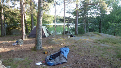 Photo: We pitched a tent but no one slept in it. Almost no mosquitoes outside.
