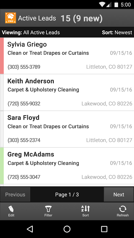 HomeAdvisor Pro- screenshot
