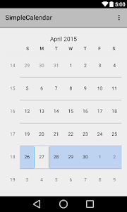 Simple Calendar screenshot 1