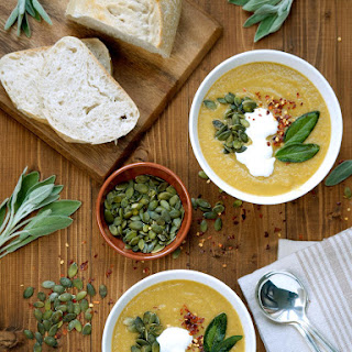 Spiced Pumpkin & Lentil Soup
