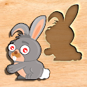 Preschool games for little kids - wooden puzzle icon