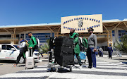 The SA Under-23 men's national team arrive safely at the Joshua Nkomo International Airport.