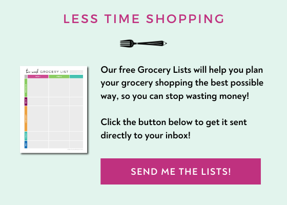 FREE Grocery Lists meal planning template