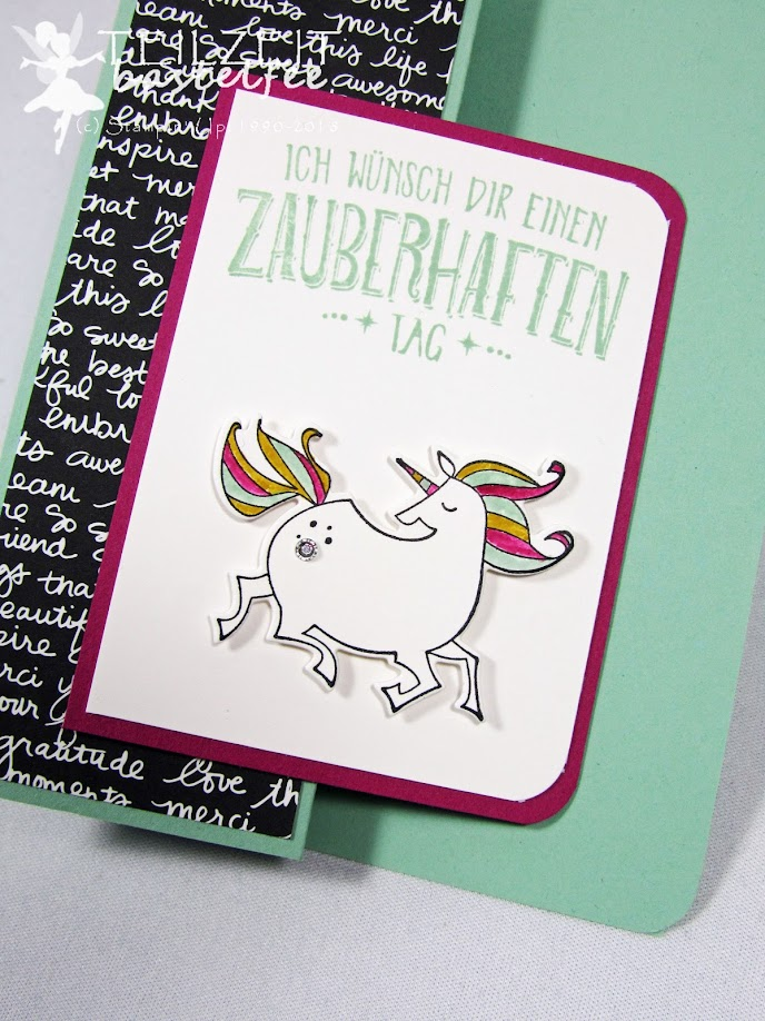 Stampin' Up! - unicorn, Einhorn, Birthday, Geburtstag