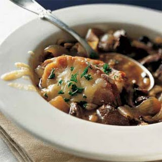 French Onion Soup with Beef and Barley.
