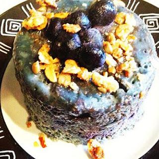 Paleo Gluten-Free Yummy Blueberry 2-Minute Microwave Muffin.