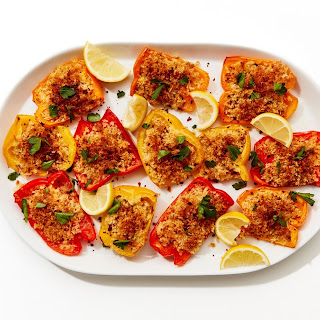 Roasted Peppers with Parm Breadcrumbs Recipe