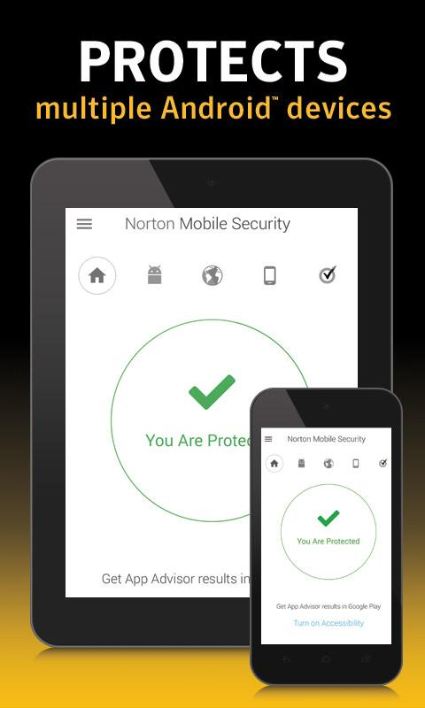Screenshots of Norton Security and Antivirus for Android
