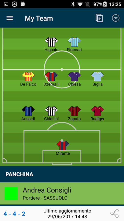 myFantacalcio Reloaded- screenshot