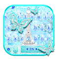 Blue Paris Butterfly Keyboard Theme icon