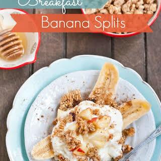 Cinnamon Apple Breakfast Banana Splits.