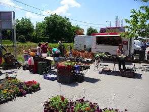 Photo: Outdoor market in Agard at Lake Velence.