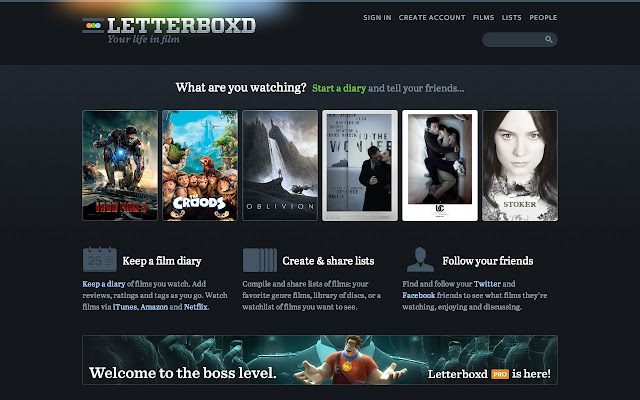 letterboxd - chrome web store