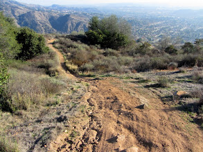 Photo: View south on the lower end of Upper Colby Trail above Glendora