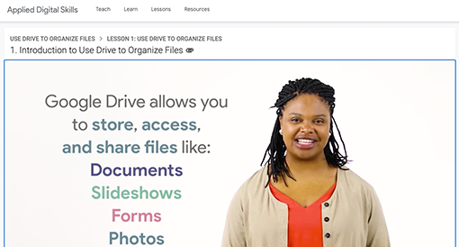 Introduction to using Google Drive to organize files