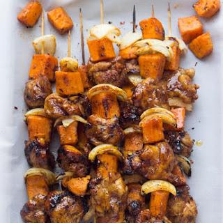 Spicy-Honey Glazed Chicken and Sweet Potato Kebabs