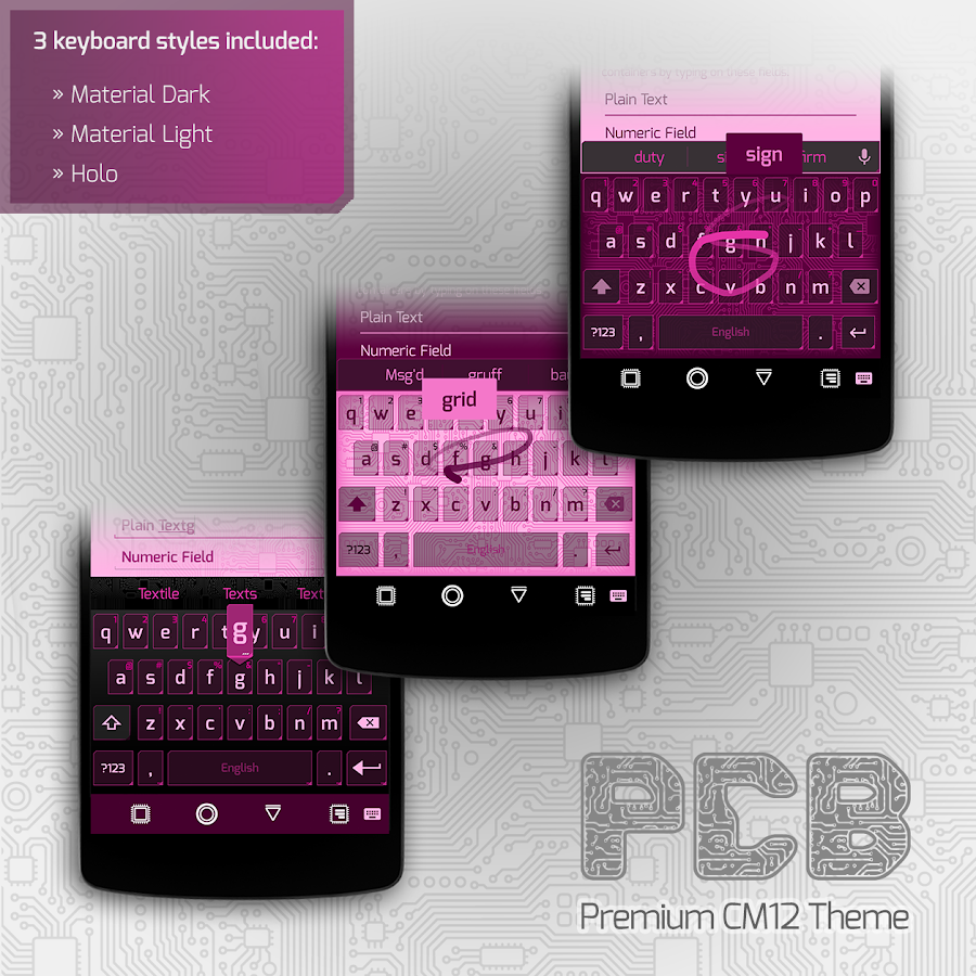 PCB Pink ⁞ CM13 Theme- screenshot