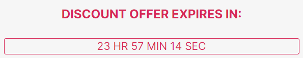 Inserting a countdown offer triggers the feeling of scarcity