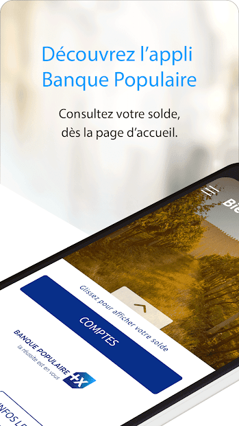 Banque Populaire Android App Screenshot