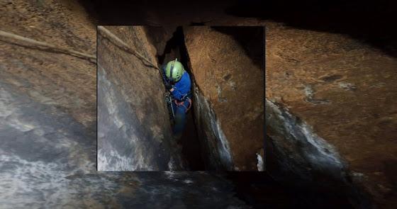 30 metros dejan a Almería sin una impresionante cueva vertical que será murciana