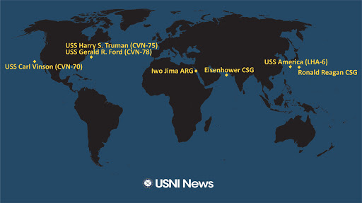 USNI News Fleet and Marine Tracker: June 14, 2021