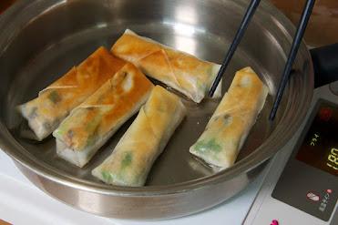 黒千石レシピ:黒千石入り春巻き・作り方