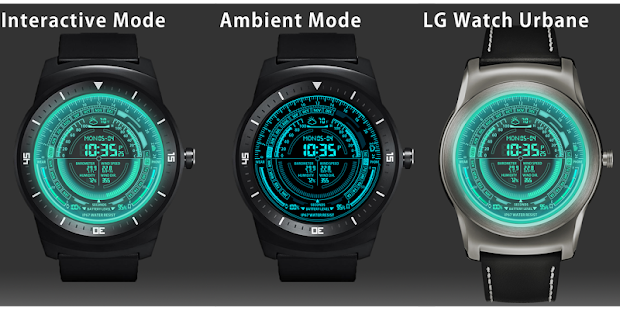 V09 WatchFace for Android Wear - náhled