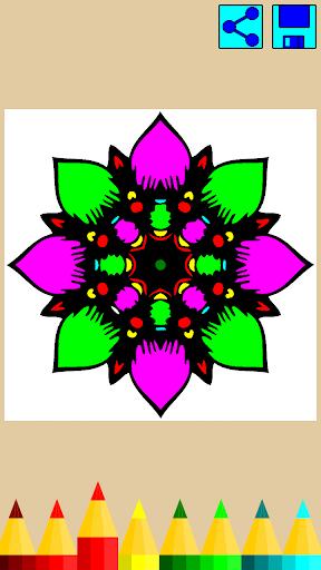 Coloring book: Mandala Flowers  screenshots 6