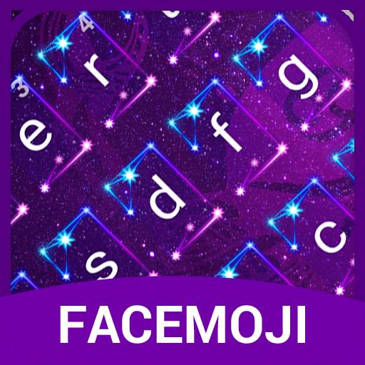 Neon Cancer Horoscope Emoji Keyboard Theme