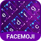 Neon Cancer Horoscope Emoji Keyboard Theme